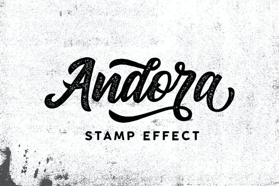 Handwritten Stamp Effect Fonts