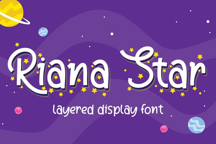 Handwritten Star Display Fonts