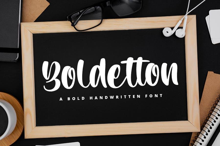 Handwritten Style Bold Fonts