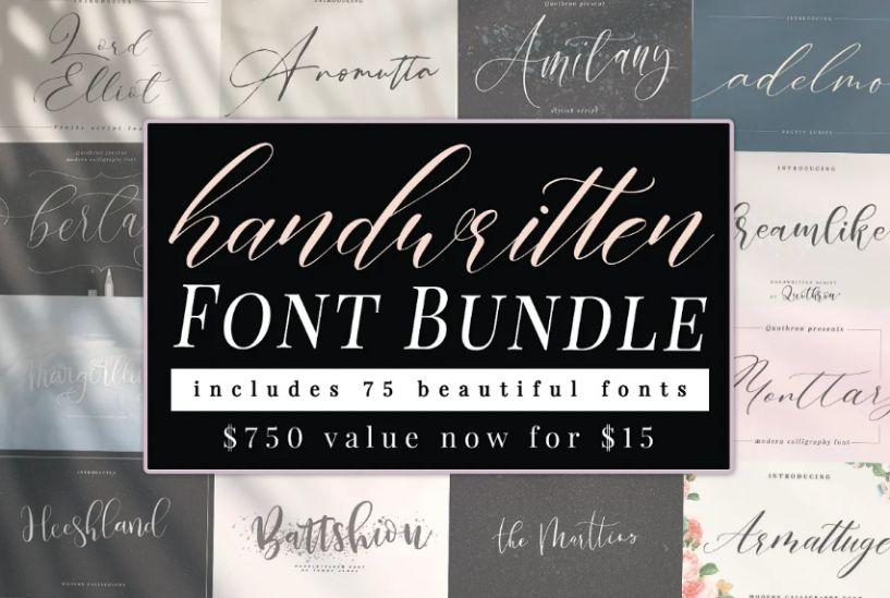 Handwritten Wedding Font Typeface