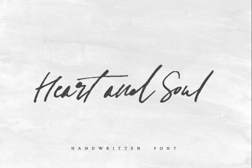 Heart ans Soul Typeface