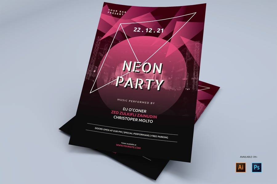 High Quality Neon Flyers