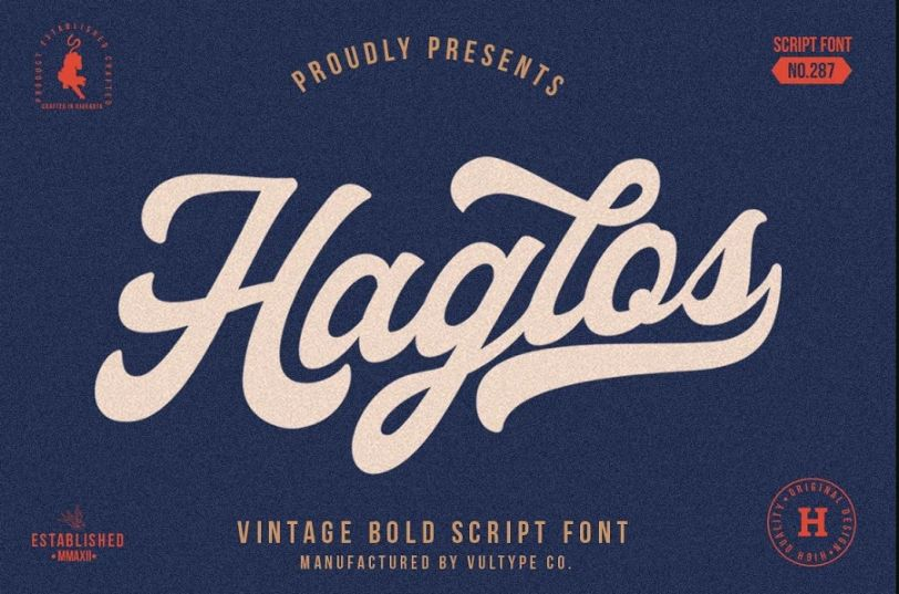 Hipster Style Baseball Fonts