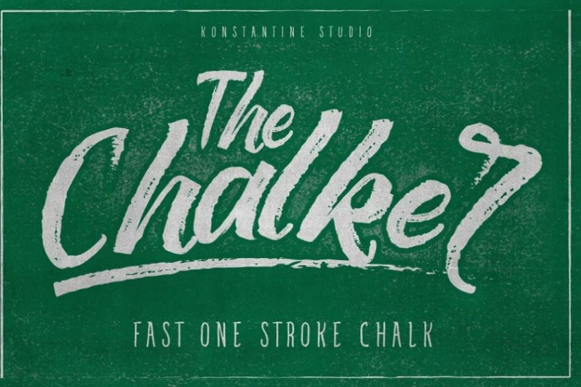 Hipster Style Chalk Lettering