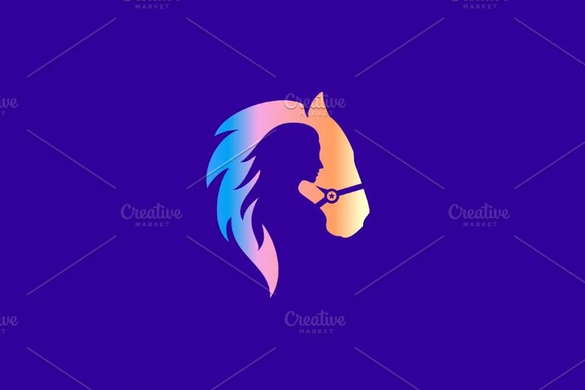Horse and Girl Logo Design