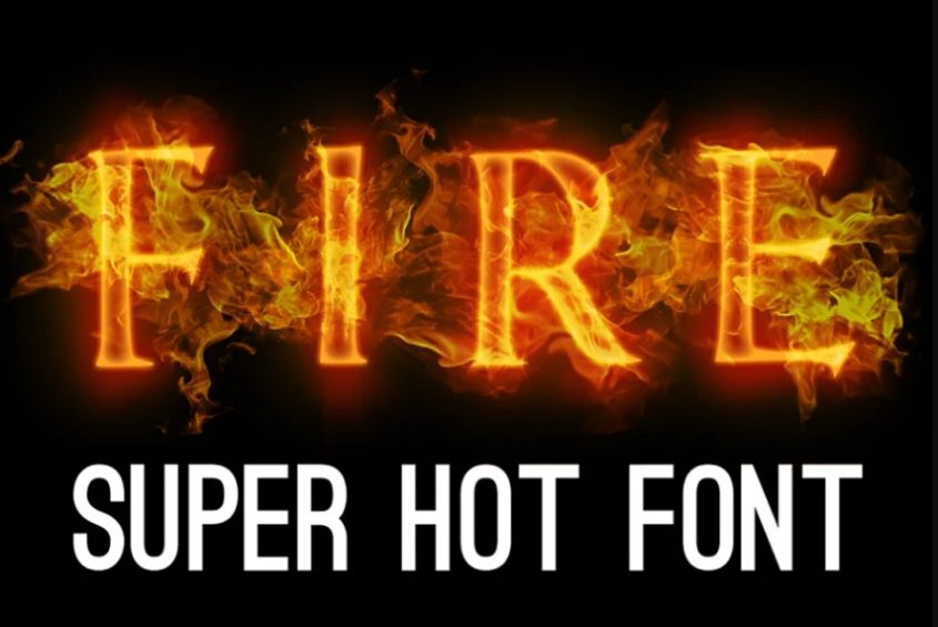 Hot Fire Flame Typeface