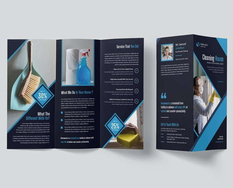 15+ Cleaning Company Brochure Template Download