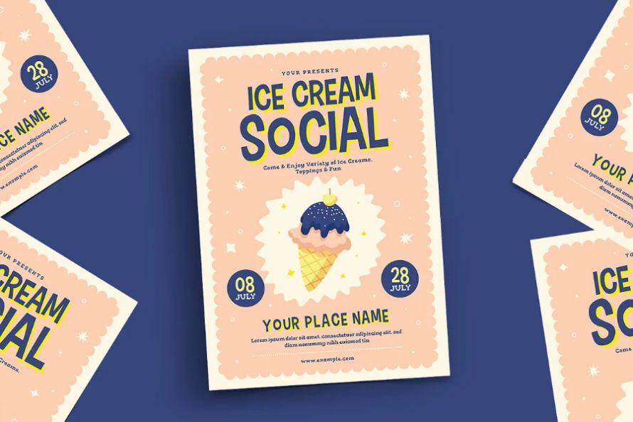 Ice Cream Event Flyer