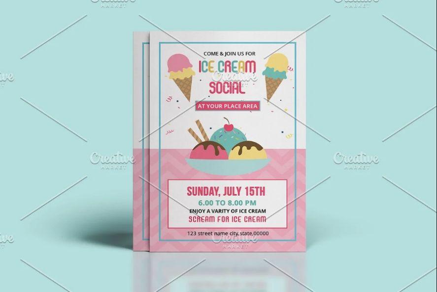 Ice Cream Party Flyer
