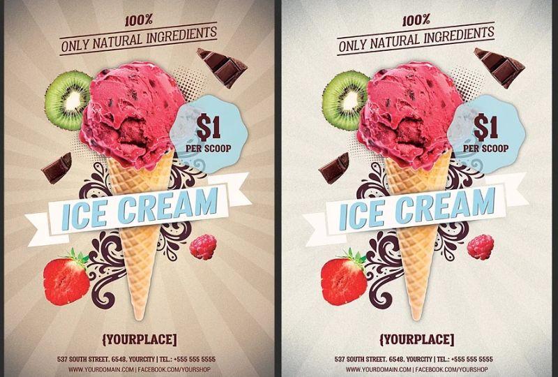 Ice Cream Promotional Flyer Design