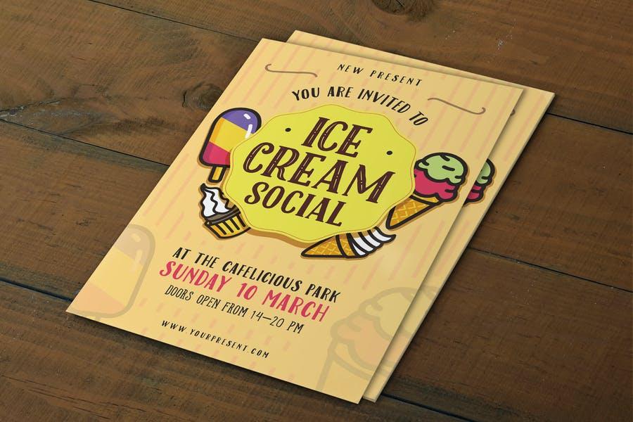 Ice Cream Social Poster Design