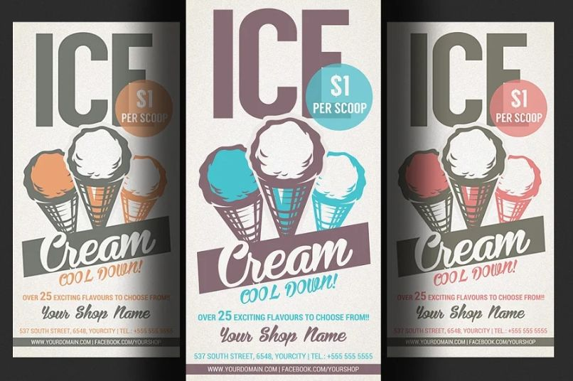 Ice Cream Store Promotional Flyer