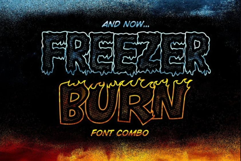 Ice and Fire Typeface Duo