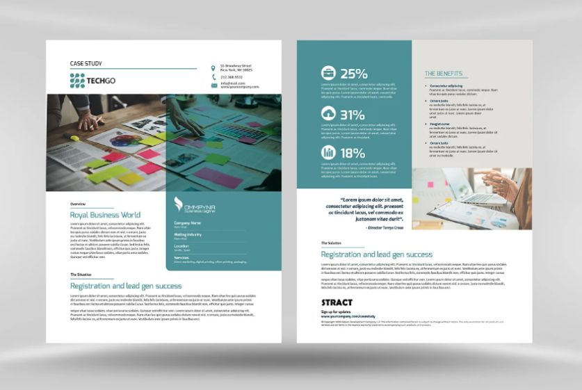 InDesign Case History Templates