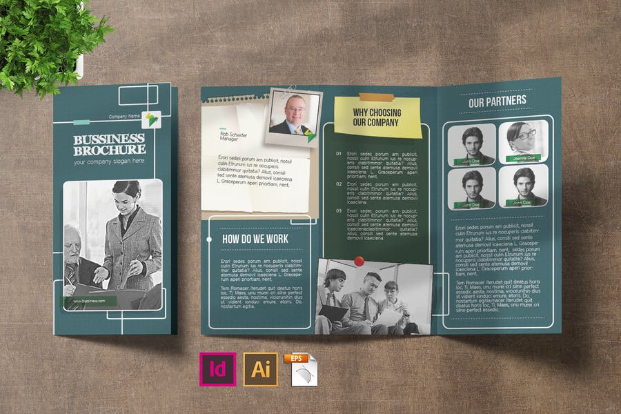 InDesign and PSD Tri Fold Brochures