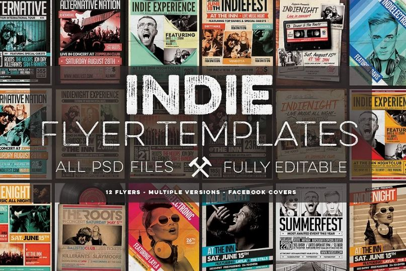 Indie Flyer and FB Cover Bundle
