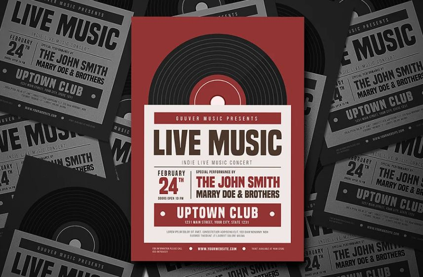 Indie Live Music Flyer Template