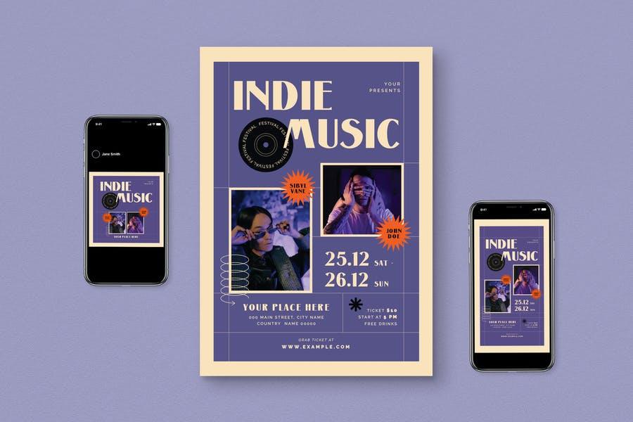 Indie Musc Flyer Set