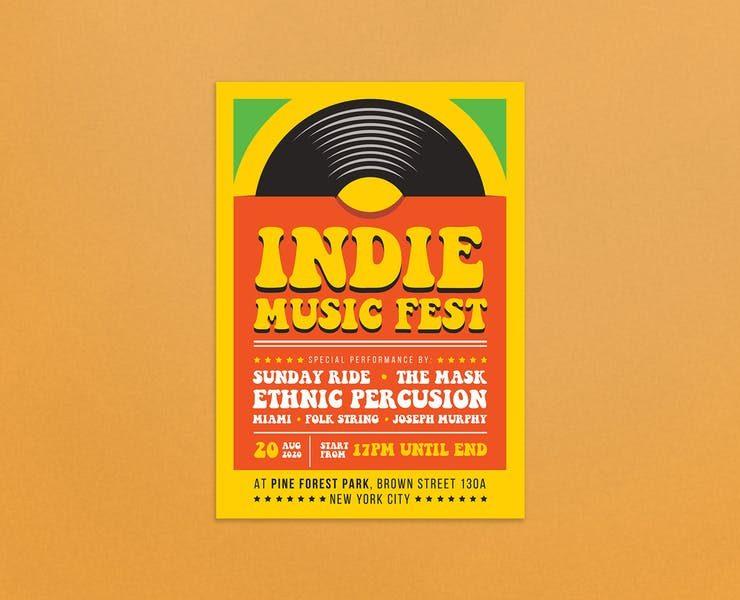 20+ Best Indie Music Flyer Templates Download