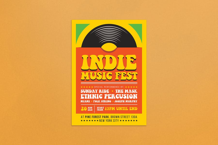 Indie Music Fest Flyer Template