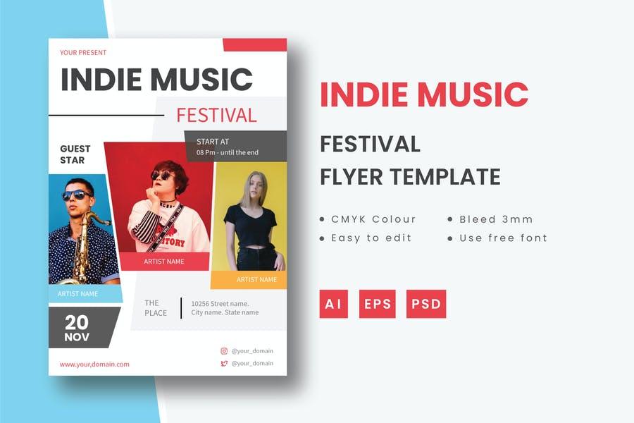 Indie Music Festival Flyer
