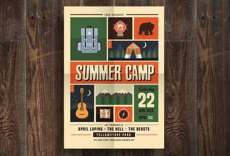 Indie Summer Camp Flyers