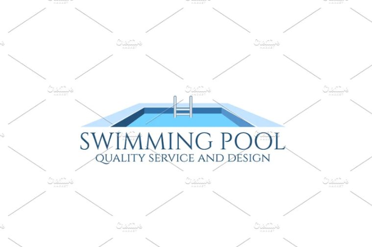 Isolated Swimming Pool Logo Vector