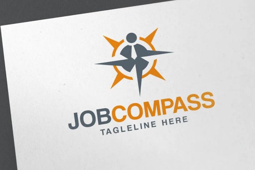 Job Compass Logo Design Template