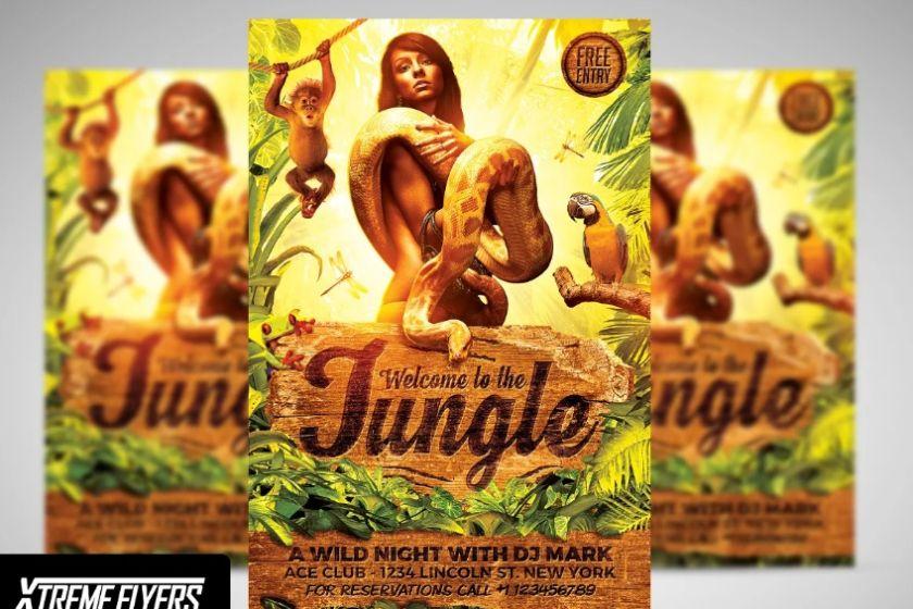 Jungle Rave Flyers Tempaltes