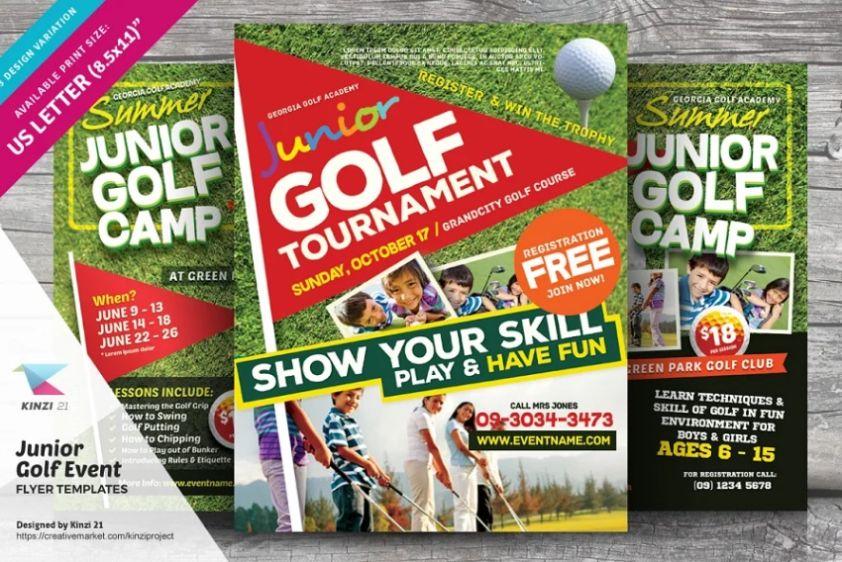 Junior Golf Tournament Flyers