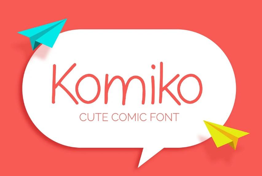 Komiko Comic Fonts