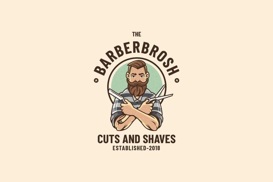 Layered Barber Logo Template