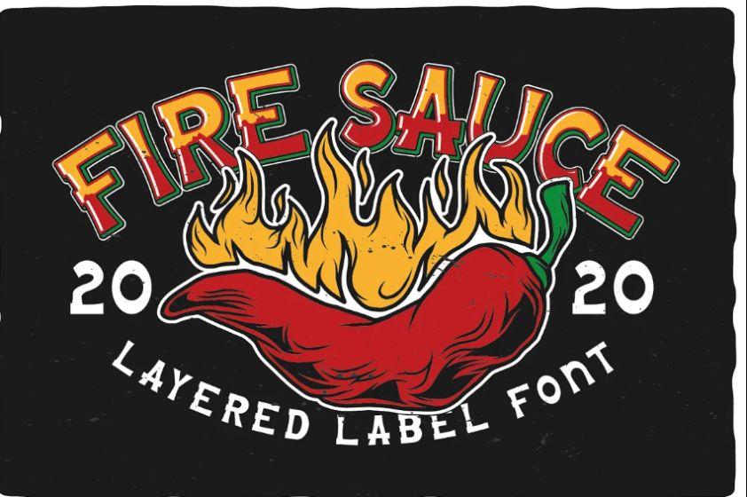 Layered Hot Sauce Font