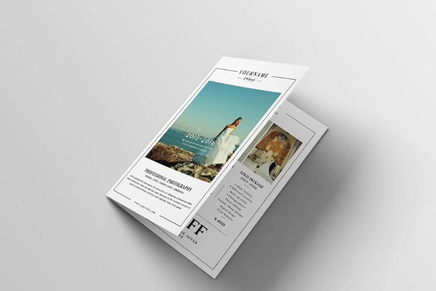 Layered Photography Brochure Template
