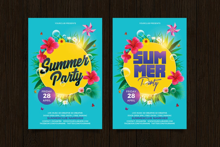 Layered Summer Party Invite