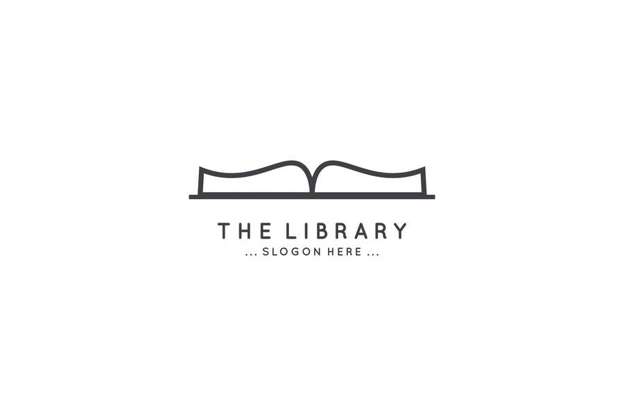 Library Book Logo Design