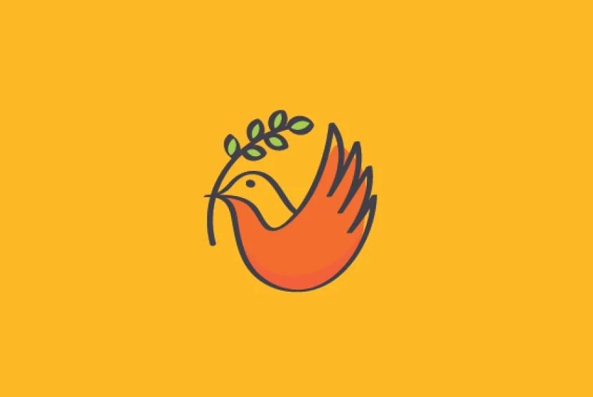 Line Art Dove Logo Design
