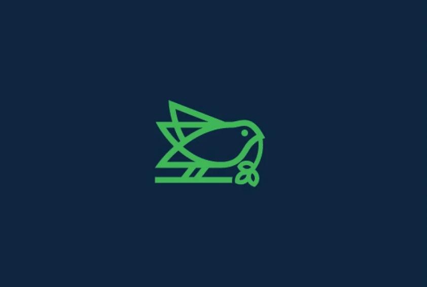 Line of Bird Logo Design