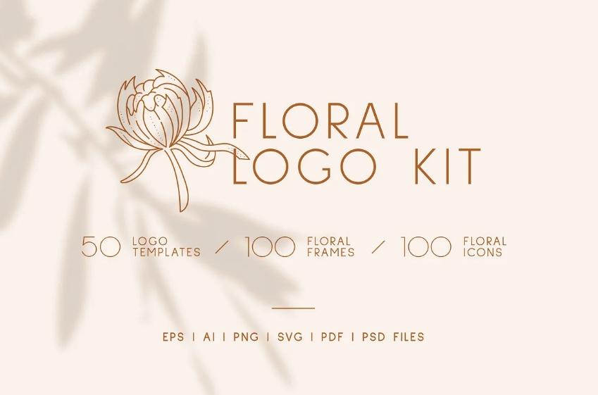Linear Floral Logo Kit
