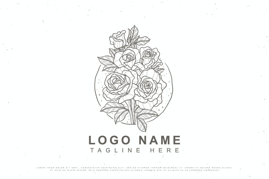 Linear Floral Logo Template