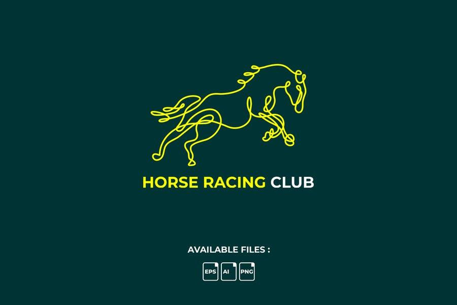 Linear Horse Logo Design