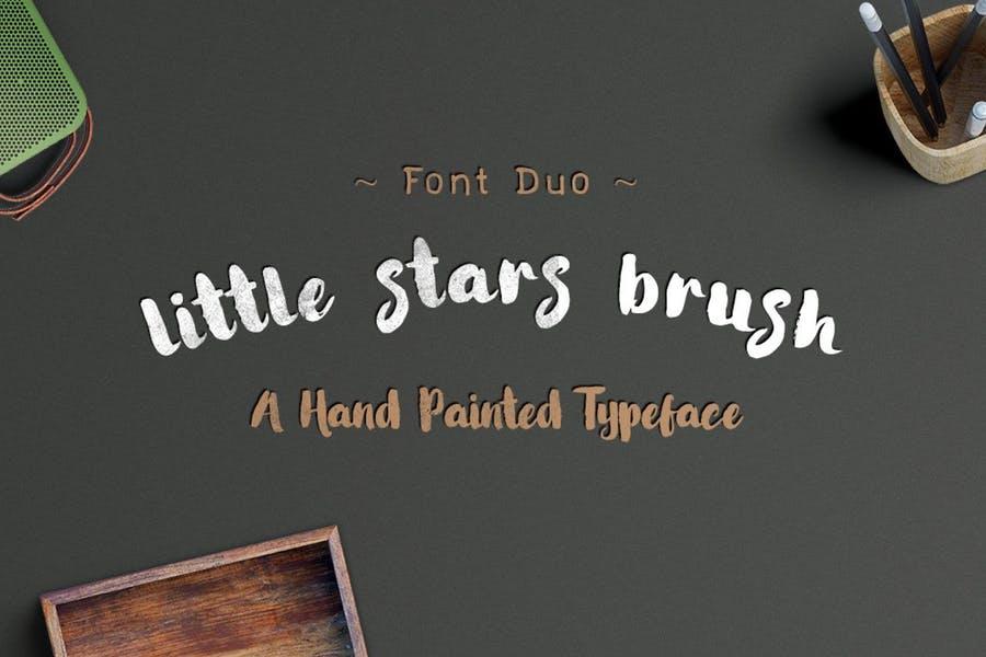 Little Stars Brush Fonts