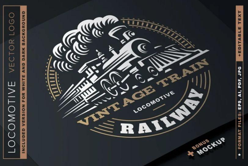 Locomotive Logo Design Template