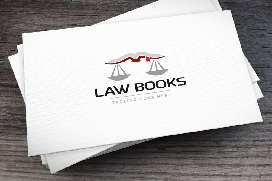 Logo Template for Law Book