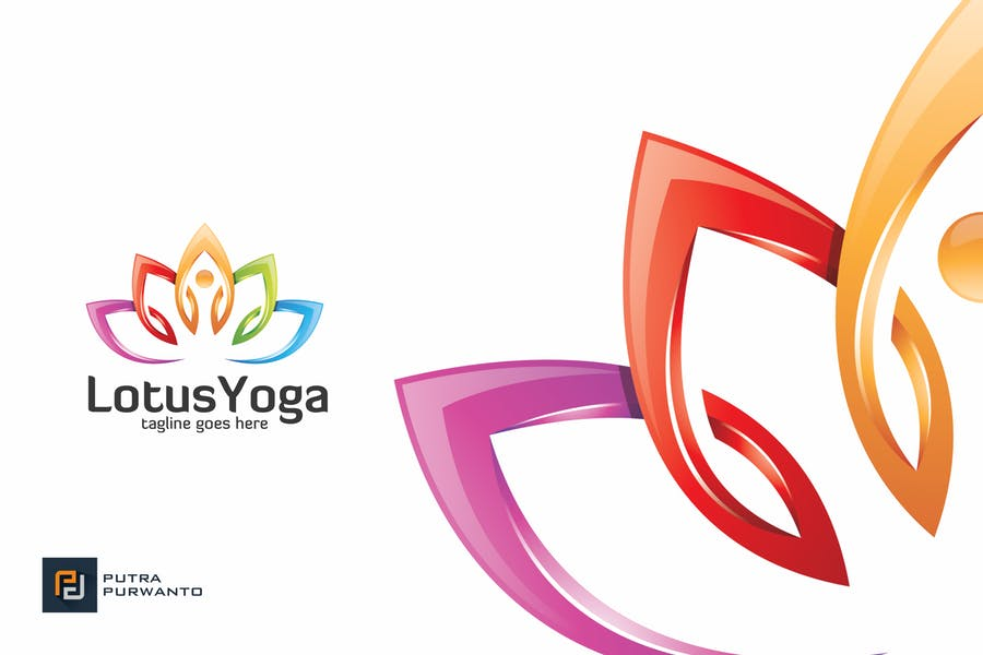 Lotus Yoga Logo Design Template