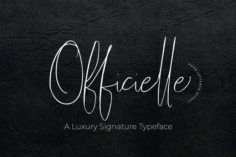 Luxury Signature Typeface