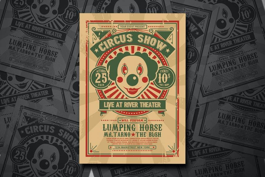 Magic Circus Show Flyer