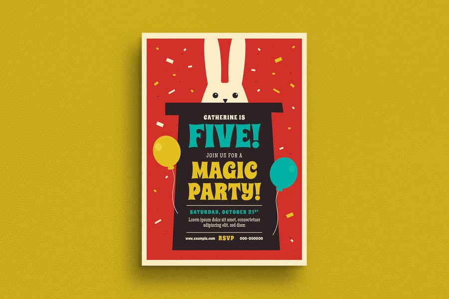 Magic Party Flyer Template