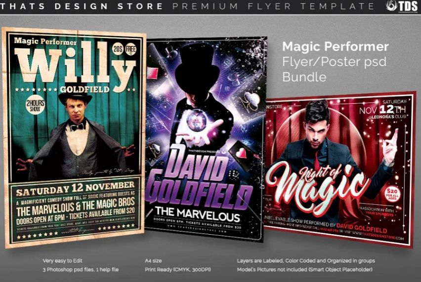 Magic Performer Flyer Bundle