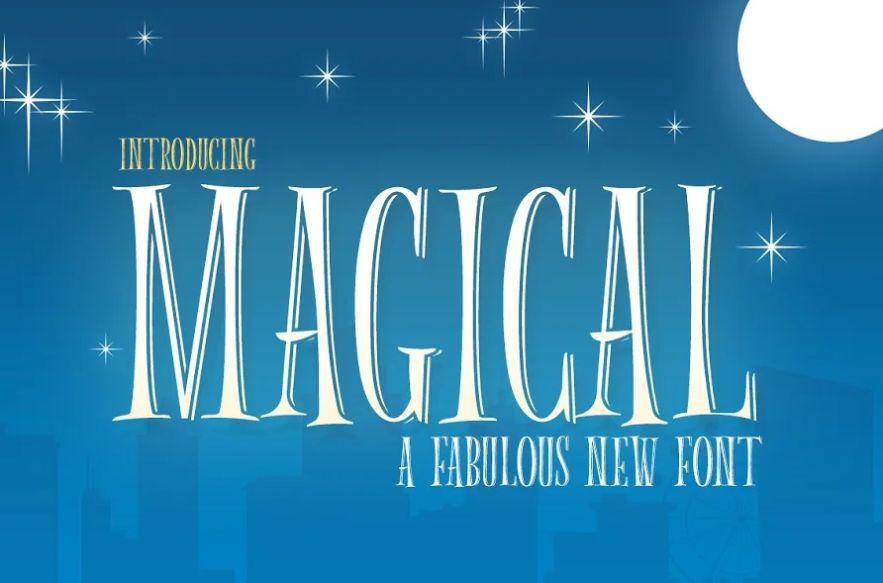 Magical Disney Display Fonts